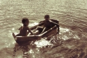 two boys, the nile and a leaky boat
