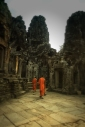 monks at the temple of Bayon