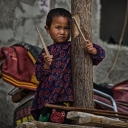 girl with sticks~ yunnan