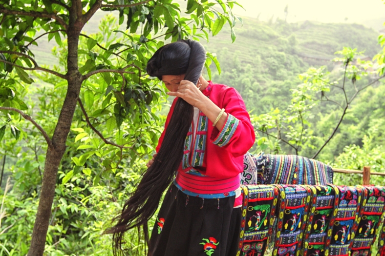 The long haired women of the yao minority