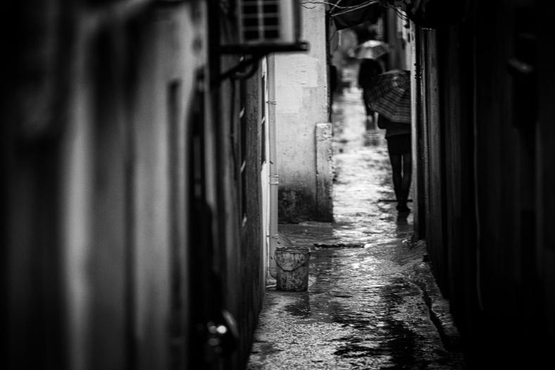 Old lane on a rainy day~ Qibao~ Shanghai