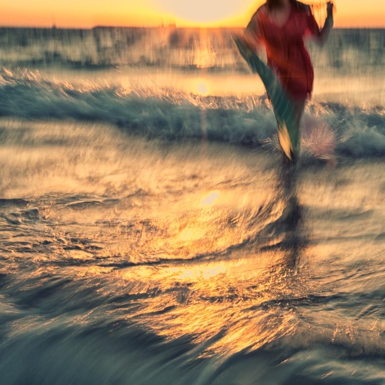 in the ocean of her imagination
