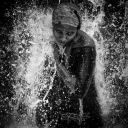 rebirth~ woman in waterfall