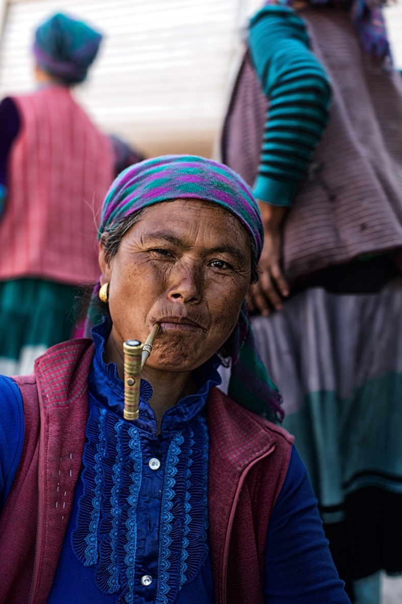 her colorful pipe~ a family tradition