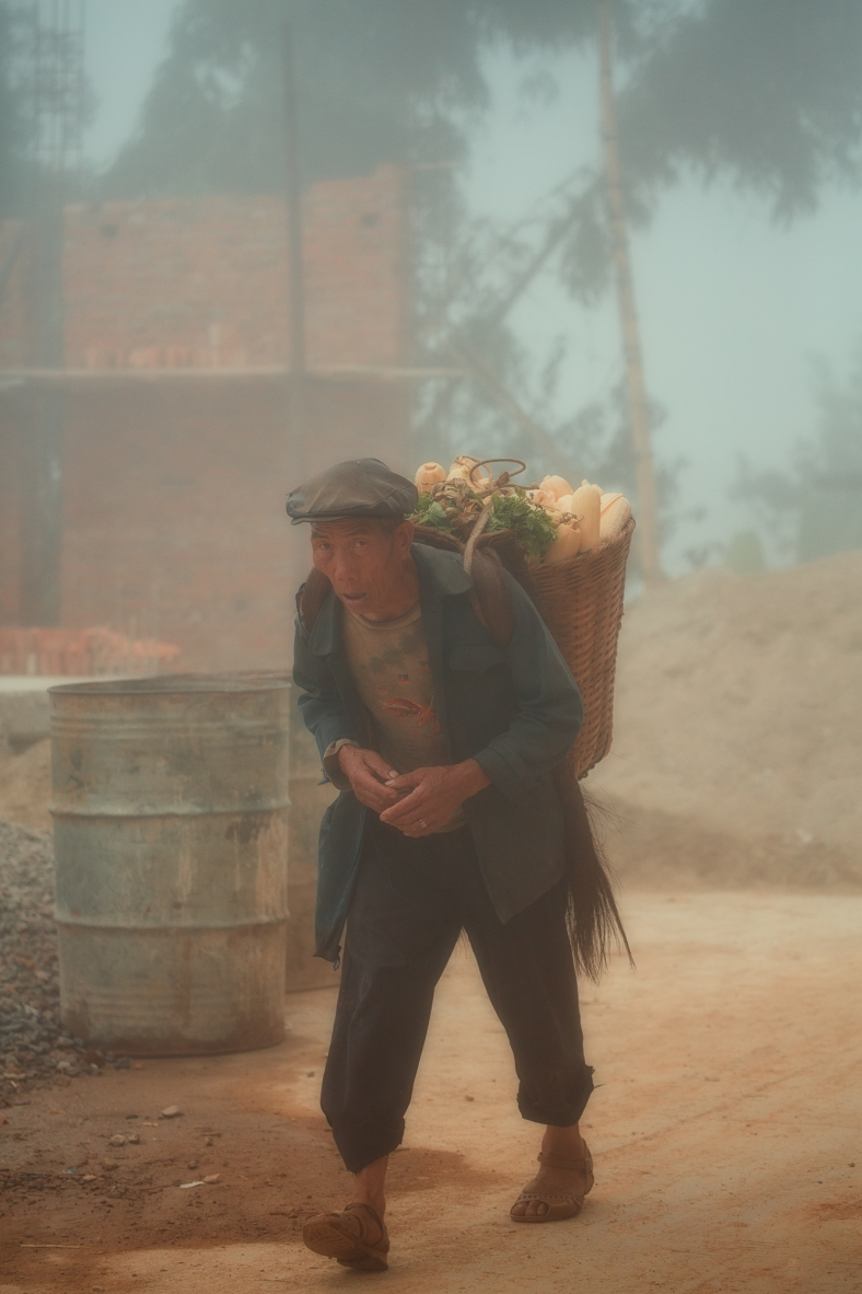 Farmer in the fog~ Yunnan